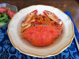 ありがとう39クッキング【ワタリガニのトマトクリームパスタでグラッツェ!】